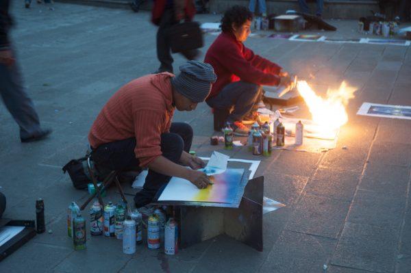 Straßenkünstler in La Paz, Bolivien