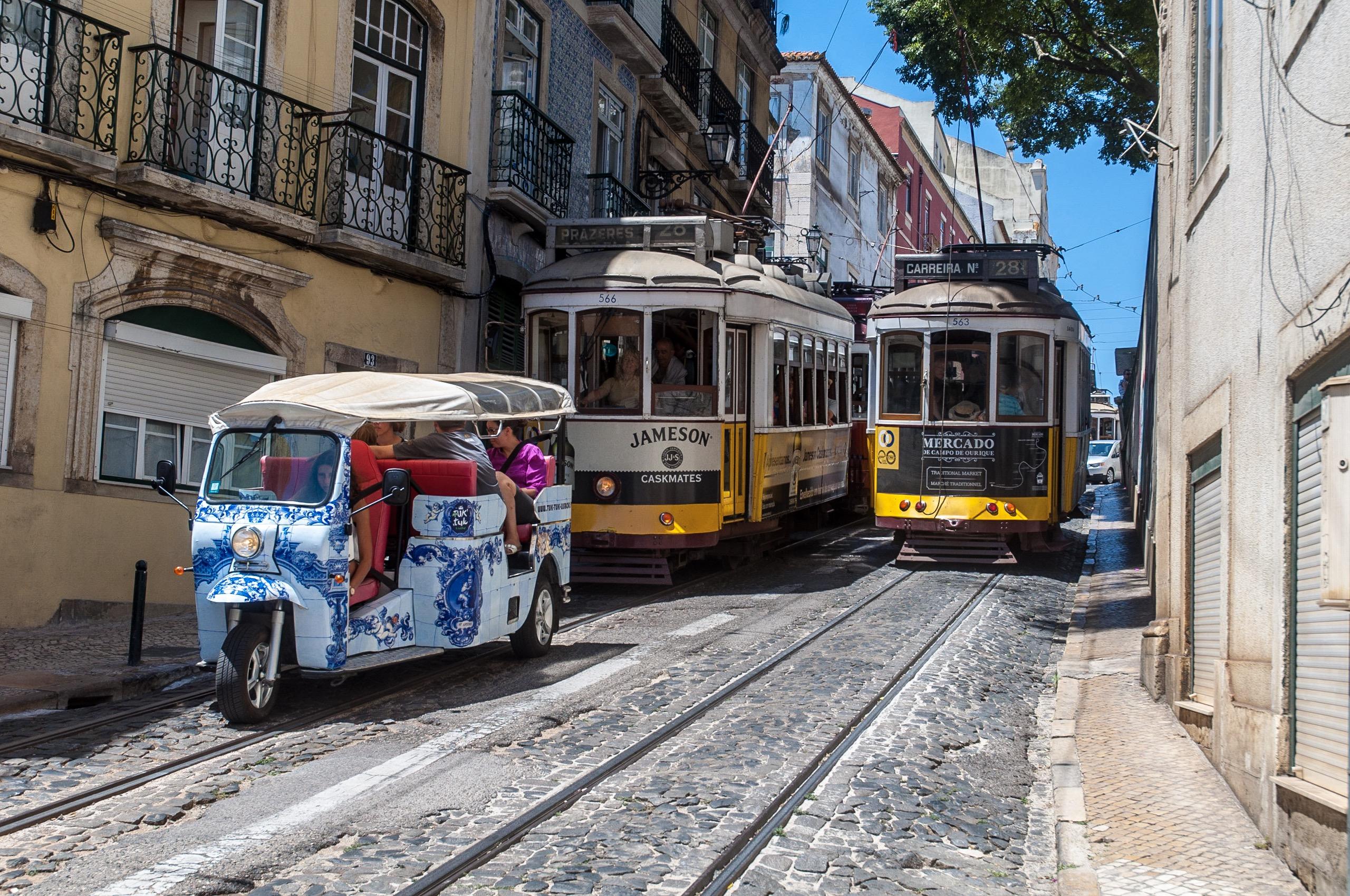 Carreira No 28, Calçada de São Vicente, Lissabon, Juli 2017